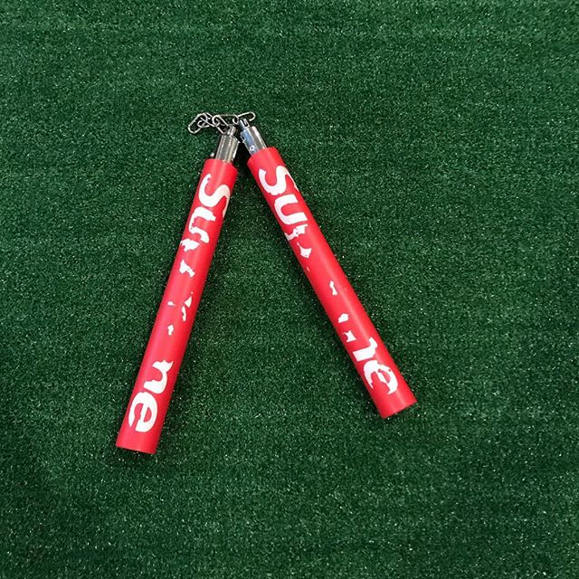 ♻️Supreme Nunchucks (2010)♻️ - - - Bin: $225✈️ - h/o: $100💧 - - Color-way: Red - Size: OS - Condo : 6/10 Condo - - Dm to purchase! - - -  #resell #reseller #supreme #sale #hypebeast #hype #fashion #yeezy #jordan #resellercommunity #nike #bape #supremeforsale #offwhite #streetwear #thrifting #ebay #poshmark #sneakers #thrift #kaws #resale #adidas #reselling #thriftstorefinds #vintage #Hypeclothes #resellers #CDG #boxlogo