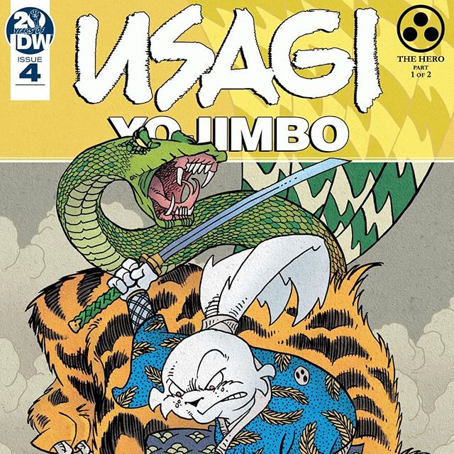 USAGI YOJIMBO #4 / HERO PART 1 - Usagi kicked off a new story arc on #ncbd and this one was a really deep dive into Japanese culture amd storytelling! I can't wait to see what happens with Lady Mura and her husband as she continues to write her story. And what adventure awaits Usagi as he donates his time amd skill to protect Lady Mura on her journey? Hurry up October! - #stansakai #usagi #idw #igcomicfam #comics