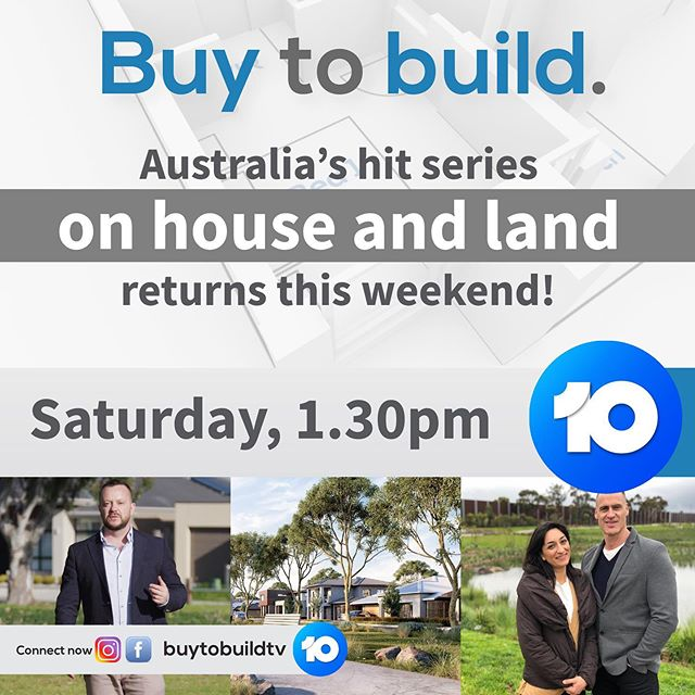 Yeeowww! Pretty excited for the season return of @buytobuildtv (give it a follow!) this weekend. Saturday 1.30pm on @channel10au #home #tv #builder #realestate #developer