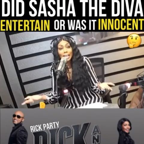 Know y'all know I'm innocent... I meet people all the time. #sashathediva