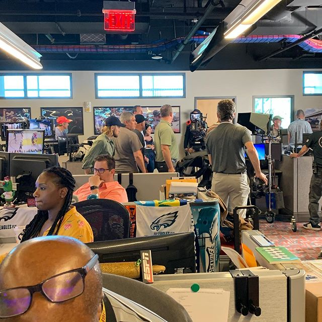 """Life at ESPN means being prepared for a """"This is SportsCenter"""" shoot to take over your office space! . . . #television #tv #espn #espnlife"""