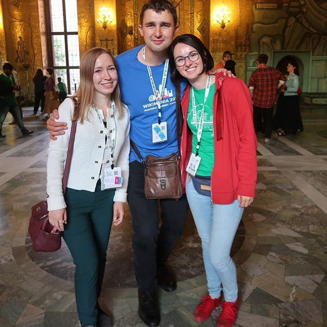 With Victor and @elena_t_chis #wikimania2019 #friends #stockholm