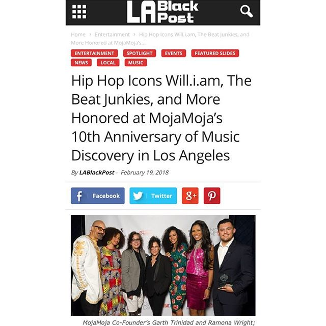 Thanks for the shoutout, #LABlackPost! Check out the latest in this recap article.  #themojamoja #mojamoja #mojamoja10 #mojamojabrunch #LA #musicdiscovery #musicmonday #thebeatjunkies #iamwill #djrashida #therevolution #olympialepoint #STEAM #hobmff  @thebeatjunkies @wendymelvoin @wigmusic @rhettmatic @jrocc210 @iamwill @olympialepoint @therevolution @djrashida @hobmusicforward @lablackpost