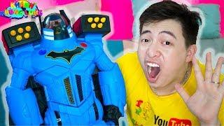 ĐỒ CHƠI SIÊU NHÂN ROBOT BATMAN !!! Do Choi Người Dơi   Khánh Khủng Long