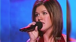 Kelly Clarkson - My Grown Up Christmas List Live on American Idol Holiday Special 2003 [HD]