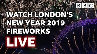London's New Year's Fireworks 2019 LIVE 🎆🤩🎉 - BBC