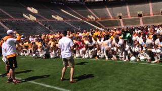 Butch Jones, UT students, and the Vols have a dance party