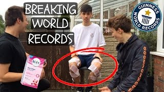 BREAKING WORLD RECORDS! ft. WAX STRIPS!