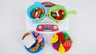 Making Play Doh Dish on the dinner table with Playset with 20+ Pieces!