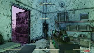 Fallout 76 killing a guy doing a glitch with another glitch
