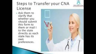 Easy Steps to Transfer your CNA License