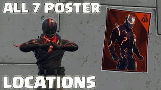 """Spray over different Carbide or Omega Posters"" ALL LOCATIONS! Fortnite Season 4 Week 6 Challenges"