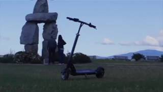 Riding the EVOLV Tour Electric Scooter in Vancouver
