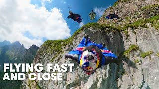 """Wingsuit Flying Formation in """"The Crack""""  