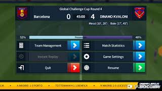 Dream league soccer 2018 barcelona 1-5 Dinamo kvaloni