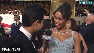 'BlacKkKlansman' Star Laura Harrier on Her Eco-Friendly Oscars Dress