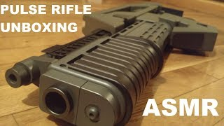 VERY CRINKLY M41A pulse rifle unboxing - ASMR (no talking)