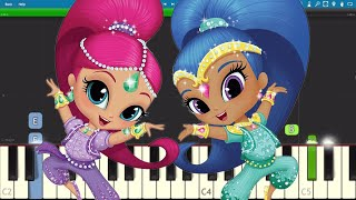 Shimmer and Shine Theme Song - EASY Piano Tutorial