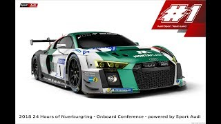 ADAC Zurich 24h Nuerburgring - Sport Audi Onboard Conference - Race - ENGLISH STREAM Part 2