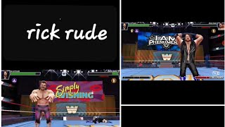 rick rude sinature move in wwe mayhem