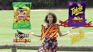 Who Make The Best Chile Lime Chips? Takis vs Doritos Dinamita (Alexa Chanel RoofTop Taste Test)