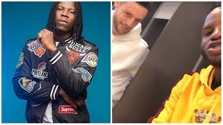 "Mubarak Wakaso's white team mate sings Stonebwoy's ""Most Original' song in their Dressing Room"