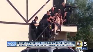COPS TASER MAN ON HIS ROOF, CHOKE HIM, AND KILL HIM DRAGGING HIM DOWN STAIRS IN PHOENIX
