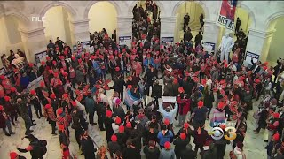 Protests Erupt On Capitol Hill On 33rd Day Of Government Shutdown