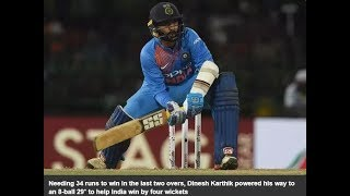 Dinesh Karthik, 8-ball 29*, India win by 4 wickets, Ind Vs Ban, Final, 2017
