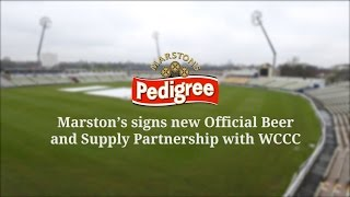 Marston's signs new Official Beer and Supply Partnership with WCCC