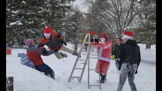 EXTREME SANTA STREET FIGHT (PRESENTS, LADDERS, AND CHAIRS).