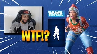 STREAMERS REACT TO *NEW* RAWR EMOTE & PTERODACTYL GLIDER - Fortnite Funny Fails and WTF Moments! #27