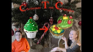 Christmas Tree Vanilla Cupcakes with Mara⎢Malena
