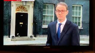 Famous 10 downing street cat gets let in the house mid live interview , soo funny