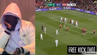 Harry Wilson Free Kick + Pogba Reaction l Man utd vs Derby l [HD 1080p]