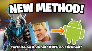 HOW TO PLAY FORTNITE ON ANDROID / NEW AND ONLY METHOD / *100% working and not clickbait* / 10€
