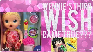 Did Wennie's wish come true?? Unboxing new Snacking Lily Baby Alive!!!