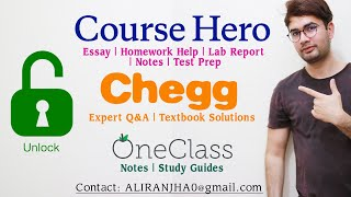 HOW TO GET COURSE HERO UNLOCK CHEGG ANSWERS UNBLUR ONE CLASS NOTES