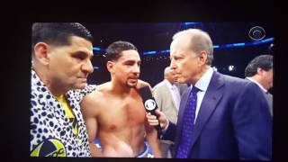 Post fight interview Keith thurman vs danny garcia