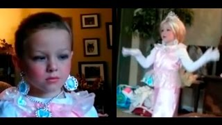 Boy dressed as a Princess for Halloween