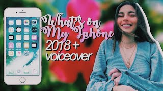 WHATS ON MY IPHONE 2018 w/ voiceover!🧚🏻‍♀️