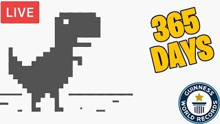 🔴 *BEST* CHROME DINOSAUR GAME FOR 1 YEAR (WORLD RECORD) 24/7 🔴