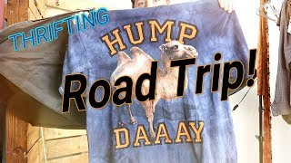 Thrift Road Trip - Huge Haul - Ebay Poshmark Resell - 7 On A MIssion Part 1