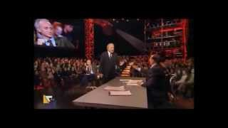 BERLUSCONI fights with Santoro and cleans the chair where he sat Travaglio (10-01-2013)