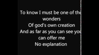 Copia di Wonder  . Natalie Merchant Lyrics