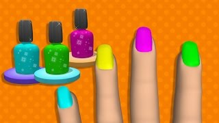 Learn Colors with Surprise Nail Arts Colours to Kids Children Toddlers Baby Play Videos