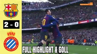 Barcelona vs espanyol ( 2-0 ) full highlight & goll la liga