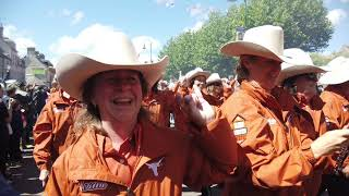 University of Texas Longhorn Alumni Band St Mere Eglise 75th anniversary D Day Parade March 2019