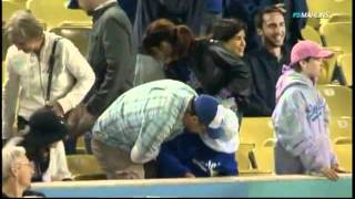 Jackass DAD misses Ball and drops Daughter!!