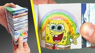 Top 5 The Longest Flipbook Animation ever ~ How to make flip books cartoon stop motion